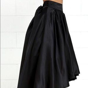 Iris skirt asymmetrical black size Small
